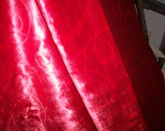 Luscious shade of red in a piece of  rayon velvet , fairly thick