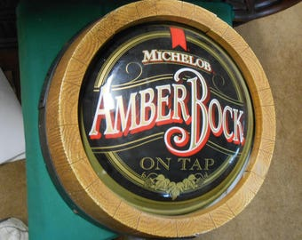 Electric-Michelob AMBER ROCK On Tap-Sign