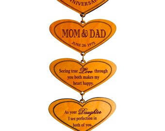 40th Anniversary Gift - Gifts for Anniversary Personalized - 40 Years Anniversary Gift for Parents from Son - Daughter - Plaque