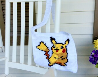 OOAK Pikachu Messenger Bag, Pokemon Shoulder Tote or Purse