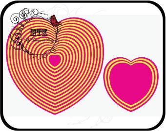 "My Treasured Kutz MTK-D-1246 Nesting Heart Set Digital Cutting File Download For Digital Cutters **No PDF (.25"" Increments)"