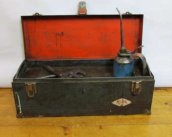 """Vintage S-K Toolsl Toolbox """"Nicely Distressed with lots of Industrial Chic Charm"""""""