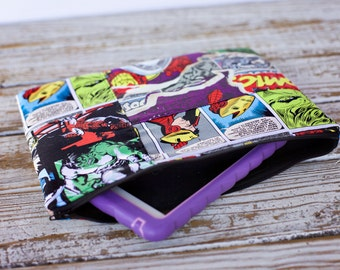 Clearance Comic book Patchwork padded tablet sleeve - Marvel comics