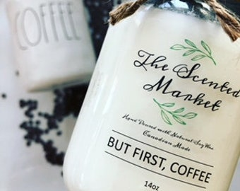 14 oz But First, Coffee Soy Wax Candle
