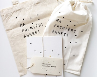 """Pack cards steps baby """"Dots black"""" Tote bag, created with Malotine & pouch"""