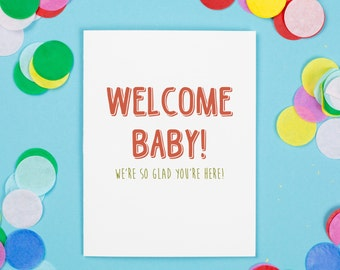 Welcome Baby Card, New Baby, Baby