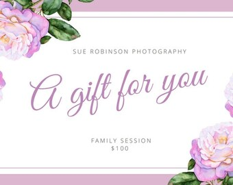 Photography, Gift Certificates