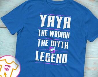 Shirt for Yaya, Custom Yaya, Personalized Yaya Shirt, Mother's Day, Yaya Shirt, Yaya TShirt, WYayan Myth Legend, Yaya Top, Christmas, Yaya