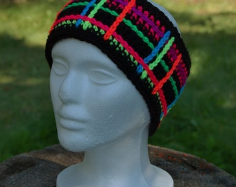 "Crochet Pattern: ""Perfectly Plaid"" Headwarmer / Ear Warmer, Permission to Sell Finished Items"