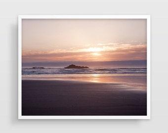 Photographie, photographie plage décor de plage, océan, Photo coucher de soleil, grand Wall Art, paysage photographie, décor de maison de plage, décor nautique