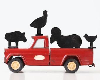 Vintage Animal Targets, Set of 4, Farm Animal Targets