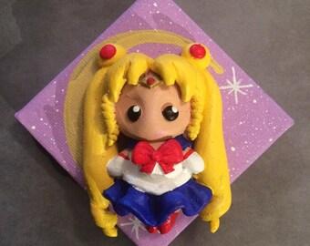 Sailor Moon ooak wall sculpture