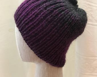 Purple/Charcoal Beanie