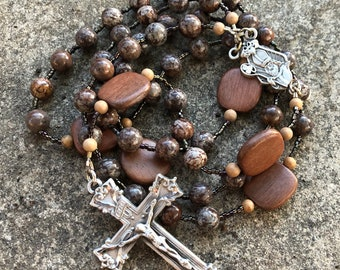 Jasper and Wood Rosary