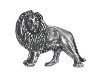 Danforth Lion 1 inch ( 25 mm ) Pewter Button