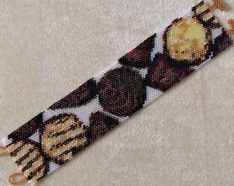 Chocolates - Peyote Bracelet Pattern