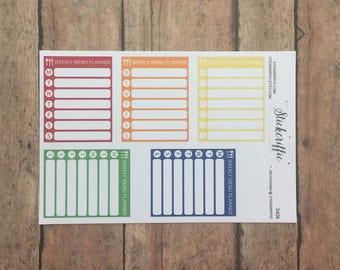S426  Weekly Menu Planner Sidebar Stickers