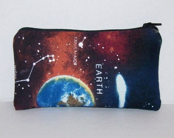 "Pipe Pouch, Astronomy Bag, Pipe Case, Space Pipe Bag, Zipper Bag, Padded Pipe Pouch, Hippy, Stoner Gift, 420, Padded Zipper Bag - 5.5"" SMALL"