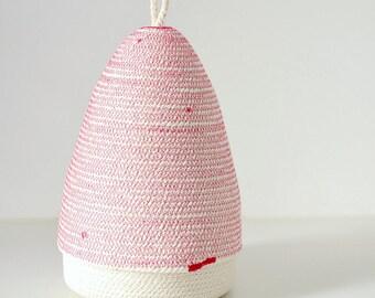 Boho style box, Gift box, Jewellery box, Wedding gifts, Coiled cotton bowls, Rope box Cotton rope bowls Cotton beach decor fuchsia and white