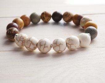 Bracelet stone, Gemstone, Gift, Talisman, Jasper, Hovlite, Mookaite, For her,