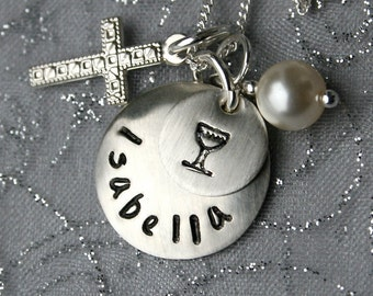 Communion - Sterling 1st Communion Necklace - FIrst Holy Communion