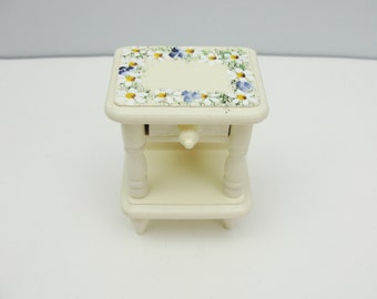 Vintage miniature furniture nightstand or side table