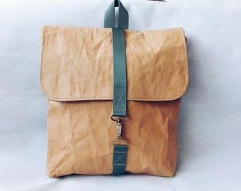 Backpack, vegan, kraft backpack, Kraft fabric, boho backpack, brown backpack, vegan bag, vegan backpack, backpack, fabric backpack