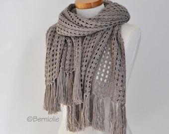 LOTUS, Crochet shawl pattern, pdf