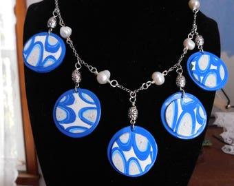 blue dot necklace