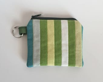 Mini Pouch - Stripes Coin Pouch - Change Purse - Coin Pouch - Mini Bag - Key Chain Pouch - Stripes Lipstick Pouch - Coin Wallet - Small Size