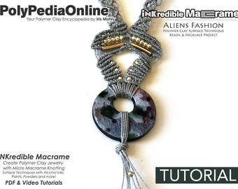 SALE! Macrame Pattern, Macrame Tutorial, Micro Macrame Pattern, Necklace Pattern, Handmade, Macrame Jewelry, DIY Polymer, Step by Step