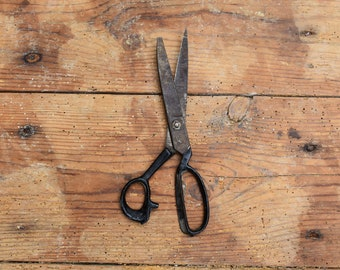 Antique Scissors, Old Scissors, Primitive Large Scissors, Rare Collector Scissors, Sewing Scissors, Sewing Scissors
