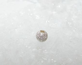 Silver bead ball 4.0 mm. Sequined beads first money title. ASS263