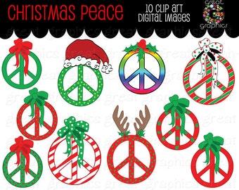 Christmas Clipart Peace Sign Clip Art Digital Clip Art Christmas Clip Art Printable Christmas Clipart Peace Sign Clipart - Instant Download