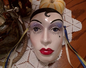 Vintage Zelda Fitzgerald Decorative Mask