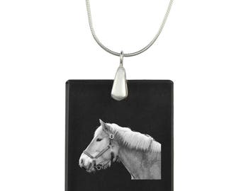 Haflinger,  Horse Crystal Pendant, SIlver Necklace 925, High Quality, Exceptional Gift, Collection!