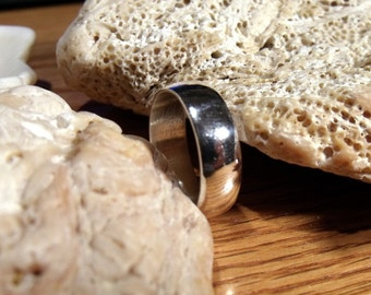 7mm Low Dome Sterling Silver Band RF064