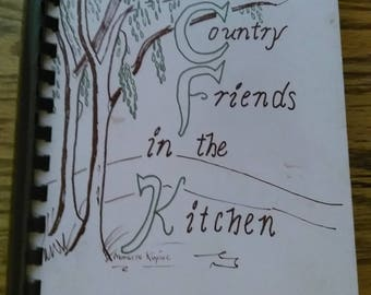 The Country Friends in the Kitchen cookbook, vintage 1970