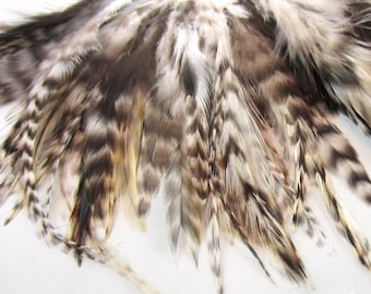 Chinchilla  Feathers Saddle premium natural pS-13   6 inches craft feathers