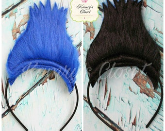 Trolls Hair Headband, Trolls Embroidered Headband, Trolls Branch Hair Headband