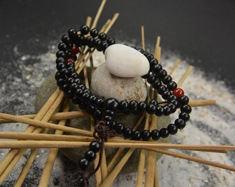 Man/women voque infinity multi layer beaded charm bracelet handmade jewelry black