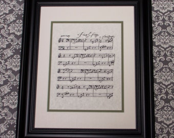 Fur Elise by L. V. Beethoven Handwritten Sheet Music: Romantic Print