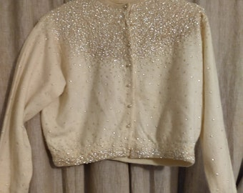 Vintage Beauty Sequin Cardigan