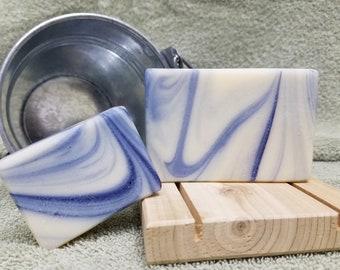 Men's Blue Sterling Handmade Goat's Milk Soap