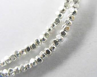 210 of Karen Hill Tribe Silver Facet Seed Beads 1.8x1 mm. :ka2906
