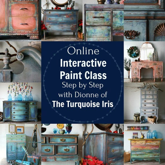 June 3rd Paint Class Online and Step by Step Instruction #dotheDionne