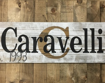 Custom Wood Name Sign, Rustic Family Est. Sign, House warming gift, Distressed Personalized Name Sign, Personalized Wedding Gift, TF