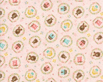 Home Sweet Home - Pink Goldie's Story Fabric - Stacy Iest Hsu - Sold by Half Yard