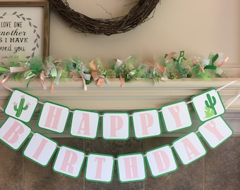 Cactus Birthday Decorations - Cactus Party Banner - Succulent Shower Banner Oh Baby Sweet Baby Happy Birthday Mama To Be Girls Party Fiesta