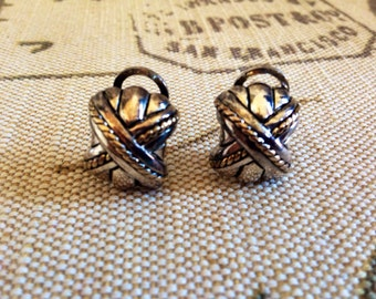 Vintage 80's PREMIER USA Silver and Gold Tone Earrings